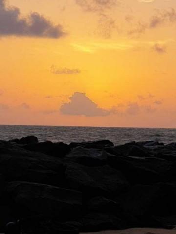 Ein toller Sonnenuntergang zur Begrüßung