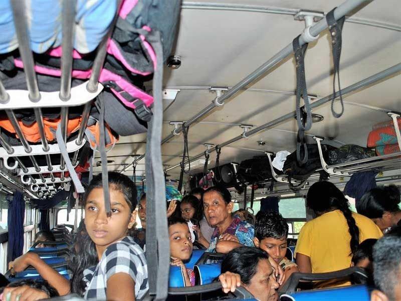 Irgendwie fanden alle Platz im Bus.