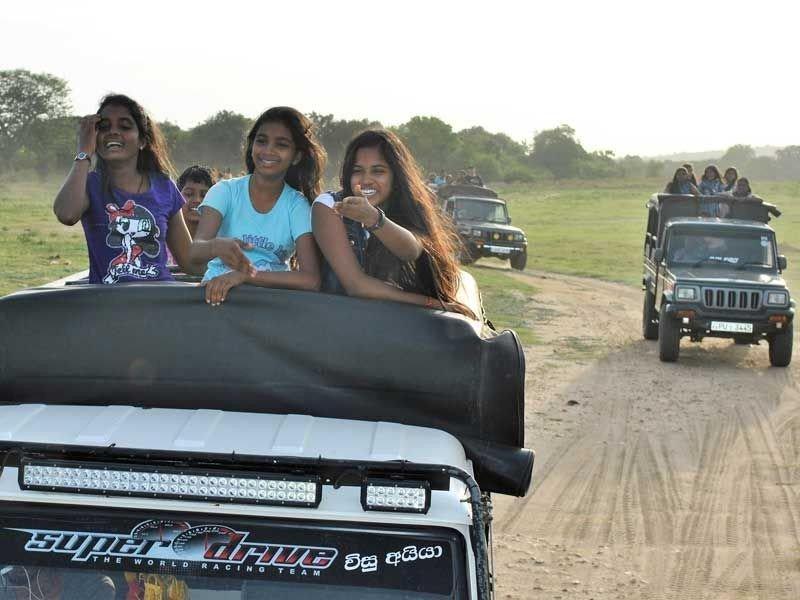 Spaß bei der Jeep-Safari