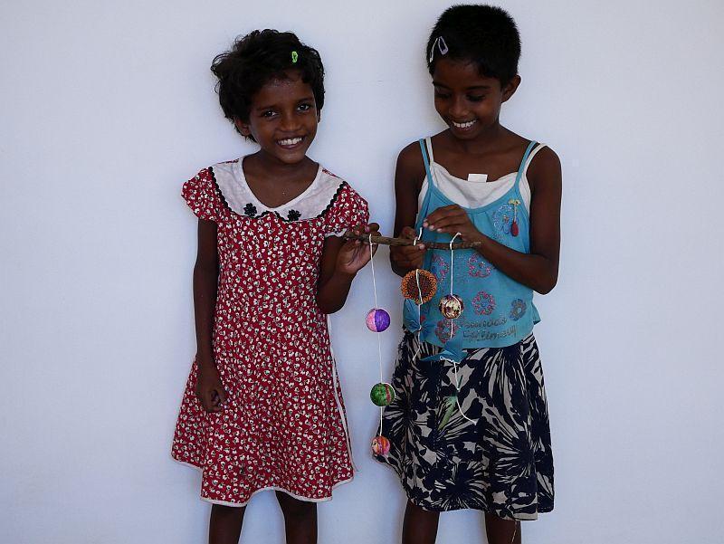 Die Künstler Madushani und Sachini