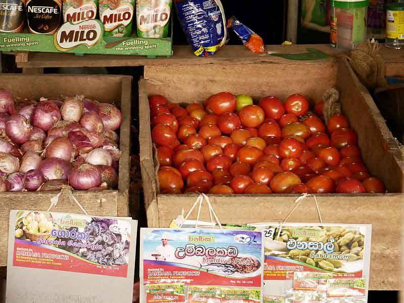 Einkauf auf dem Gemüsemarkt