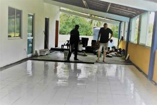 Renovierung der Praktikumswohnung