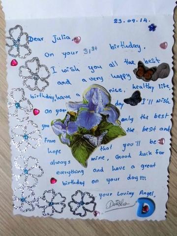 Geburtstagskarte von Dinesha