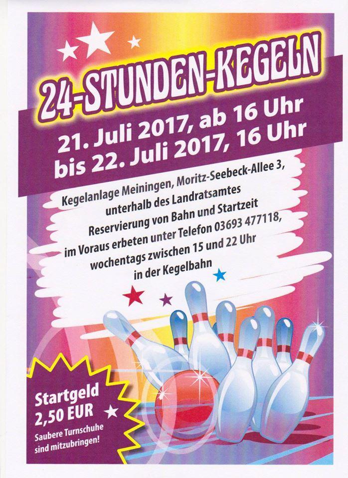 Für den guten Zweck, 24 Stunden Kegel-Marathon in Meiningen!