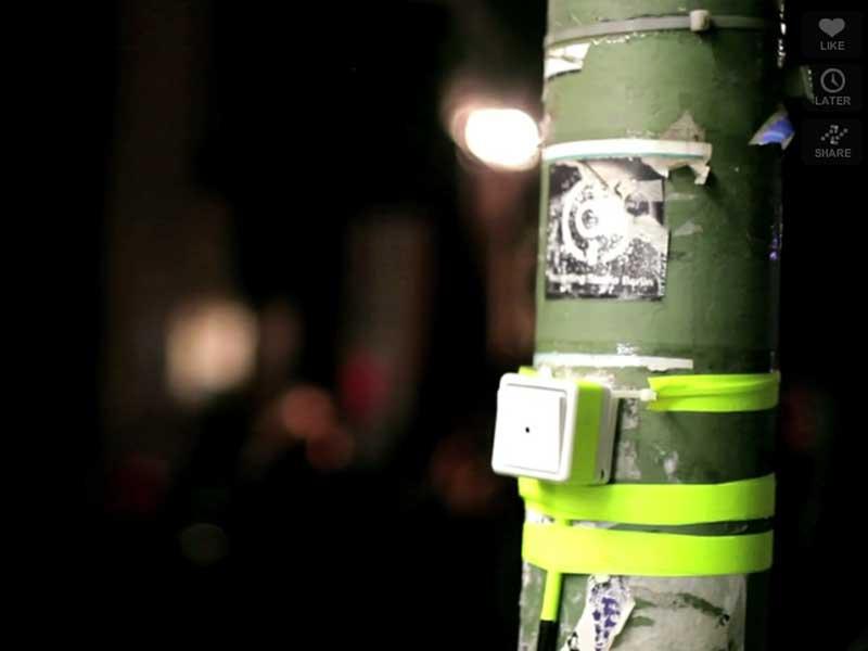 Lichtschalter einer Straßenlaterne