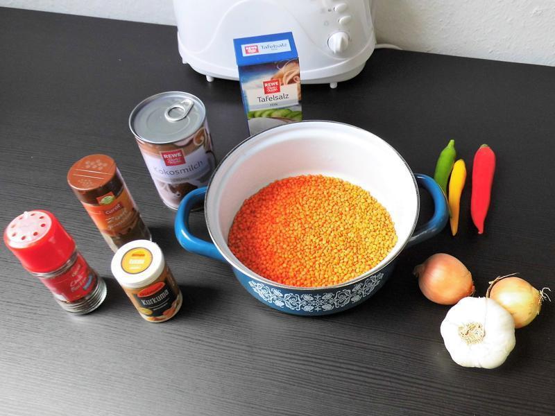 Zutaten für Dhal-Curry