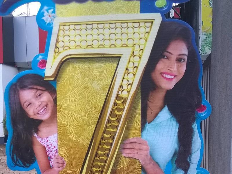 Werbeplakat in Sri Lanka