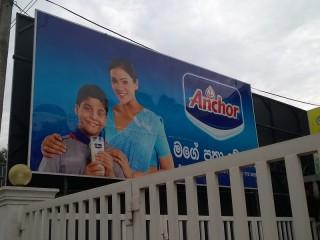 Shampoowerbung in Sri Lanka