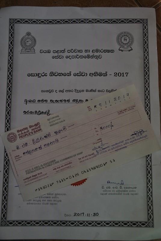 Ein Zertifikat und einen Cheque gabs für die Zweitplatzierte