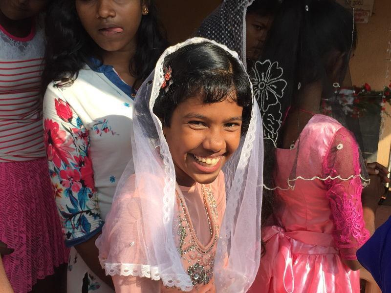 Kawshaliya bei der Messe