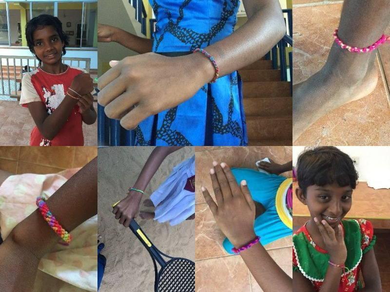 Viele verzierte Arm- und Fußgelenke
