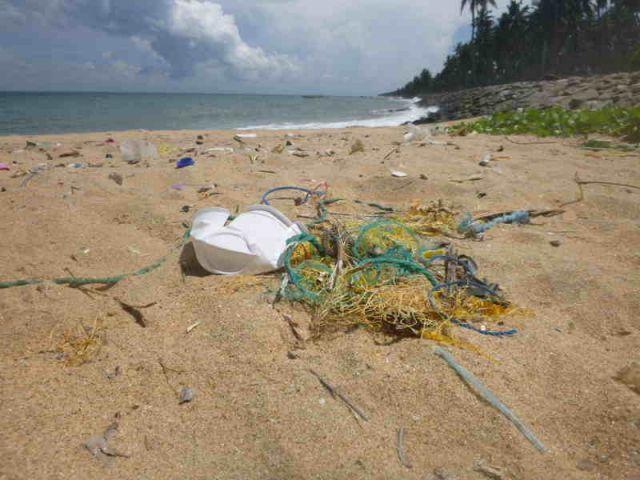 Ein Strand voller Plastikmüll