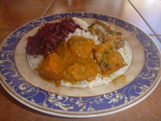 Zusammen mit Reis genießen