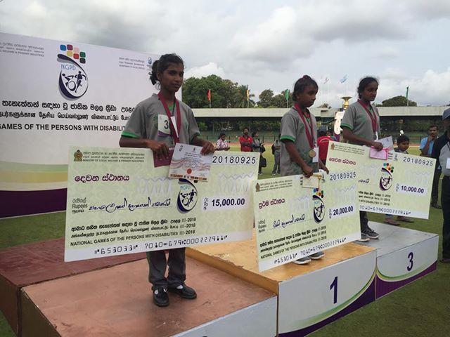 Kumari belegt den 2 Platz der Paralympischen Spiele in Sri Lanka
