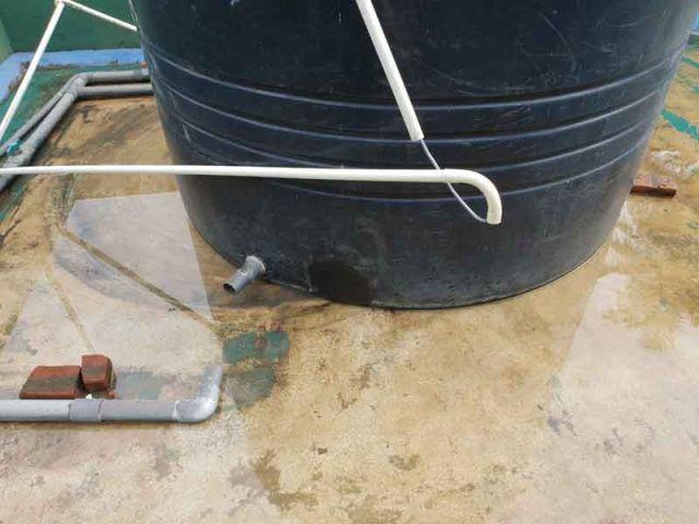 Leck im 5000 Liter Wassertank