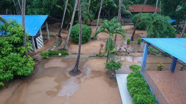 Leichte Spuren der Regensaison