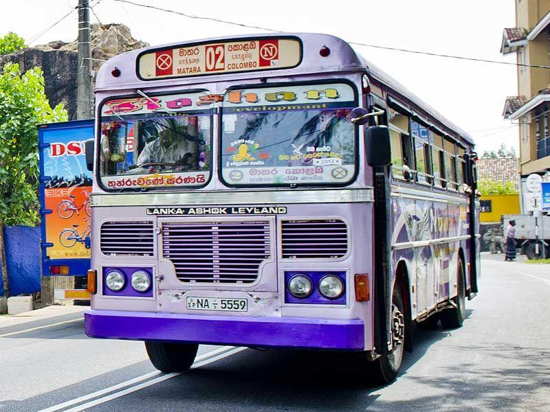Busfahren in Sri Lanka hat viele Vorteile.