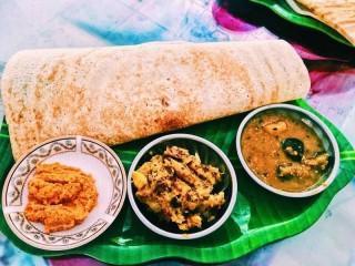 Typisches Essen in Sri Lanka