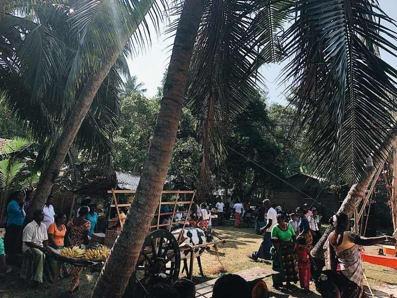 Das ganze Dorf hat zusammen gefeiert.