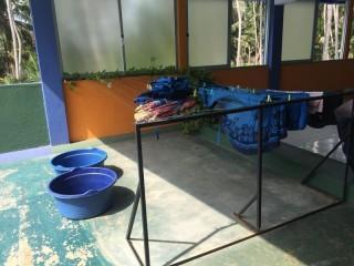 Waschplatz von uns Praktikantinnen
