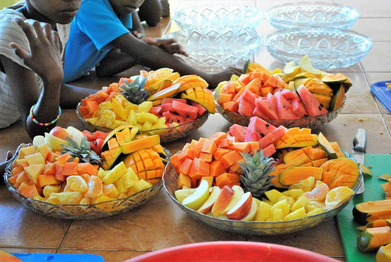 Singhalesische Obstplatte